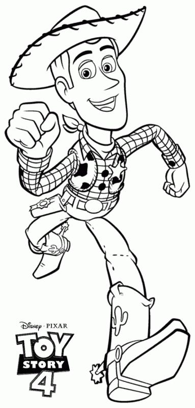 desenho do Woody de Toy Story 4 para pintar