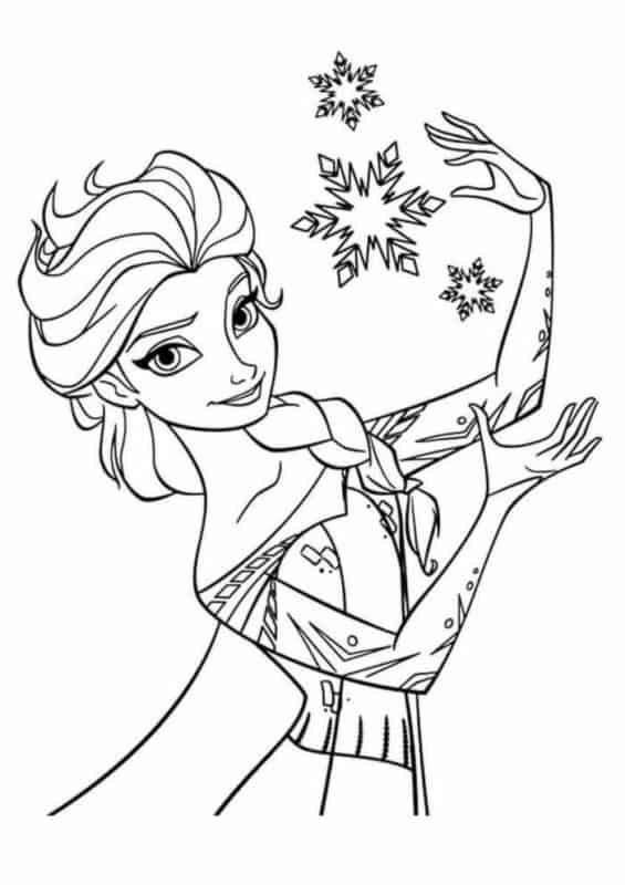 desenho frozen para imprimir e pintar