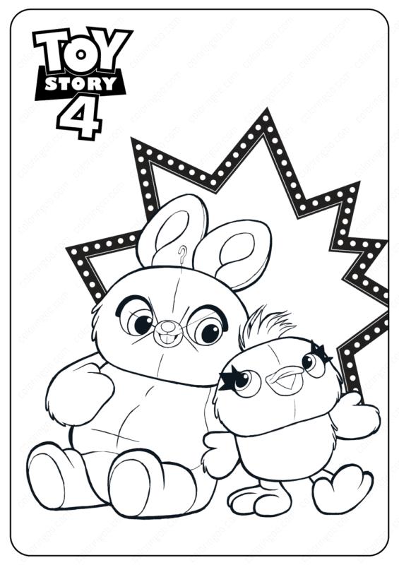 atividade para colorir Toy Story 4
