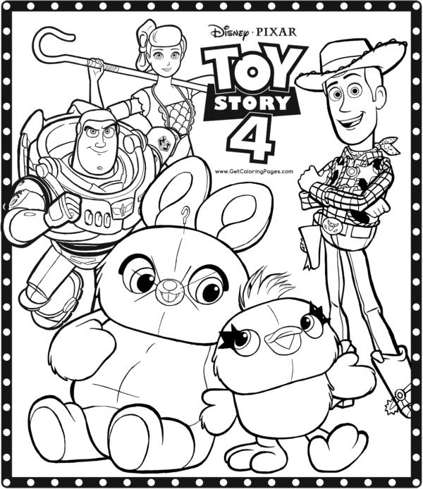 desenho para imprimir grátis Toy Story 4
