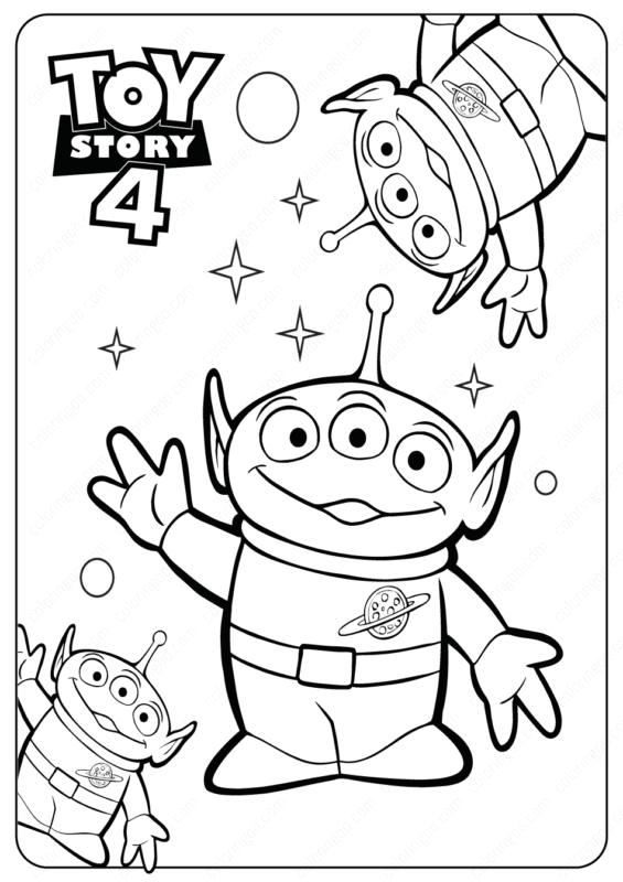 atividade para pintar Toy Story 4