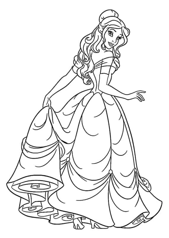 desenho de princesa para imprimir