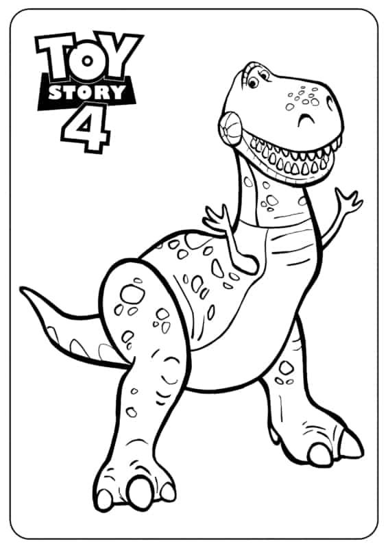 desenho Rex Toy Story para pintar