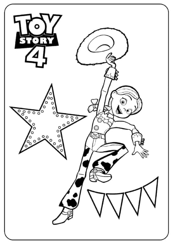 desenho para imprimir grátis Toy Sotry 4