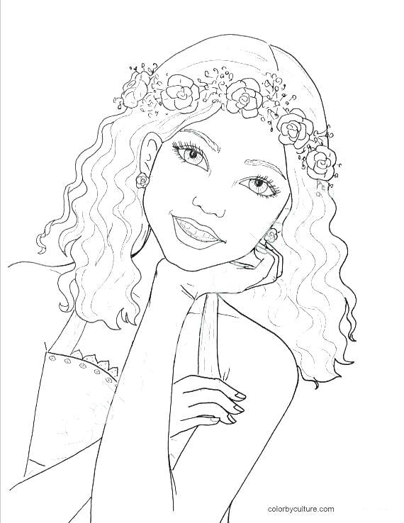 desenho de adolescente para colorir