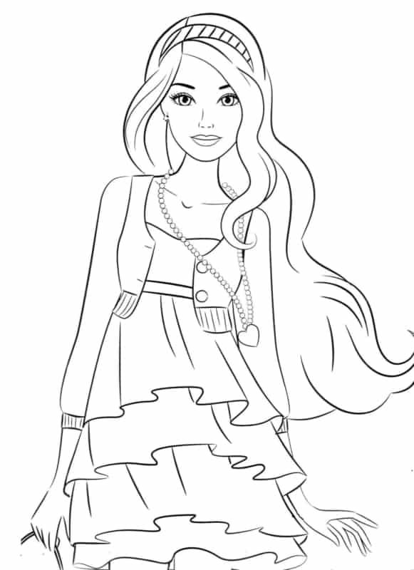 desenho da Barbie para colorir
