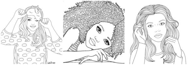 desenhos teen de menina para imprimir e colorir