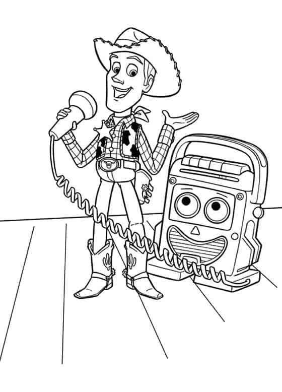 desenho Woody Toy Story para pintar