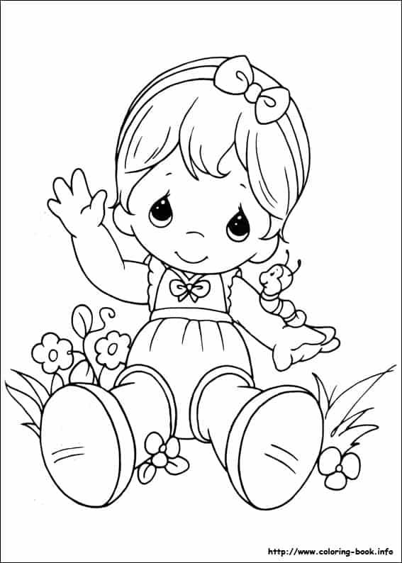 desenho fácil de pintar de menina