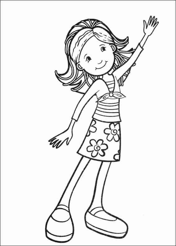 desenho simples de menina para colorir