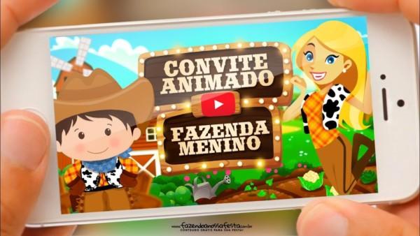 convite Fazendinha online