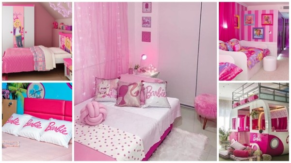 decoracao de quarto da Barbie