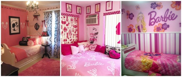 ideias para decoracao rosa de quarto da Barbie