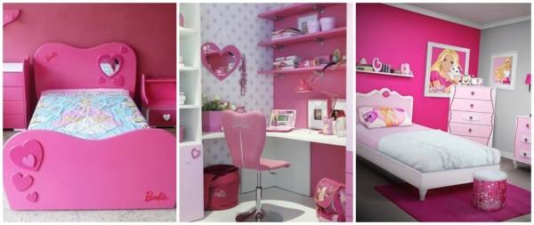 ideias para fazer decoracao de quarto infantil com tema da Barbie