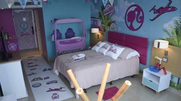 decoracao criativa para quarto infantil com tema da Barbie