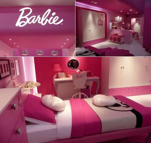 decoracao pink para quarto de luxo da Barbie