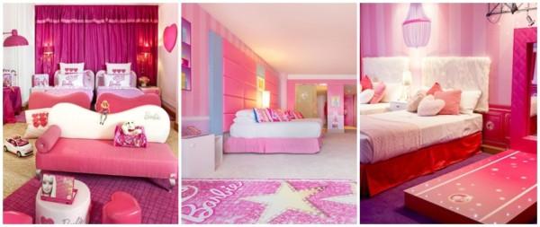 ideias para quarto de luxo com tema da Barbie