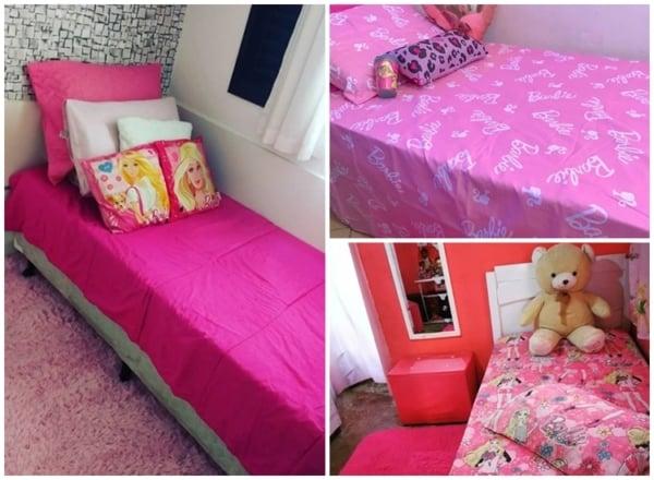 ideias simples para decoracao de quarto da Barbie