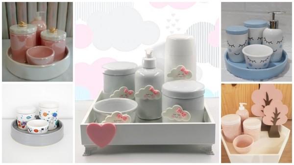 modelos de kit higiene de porcelana