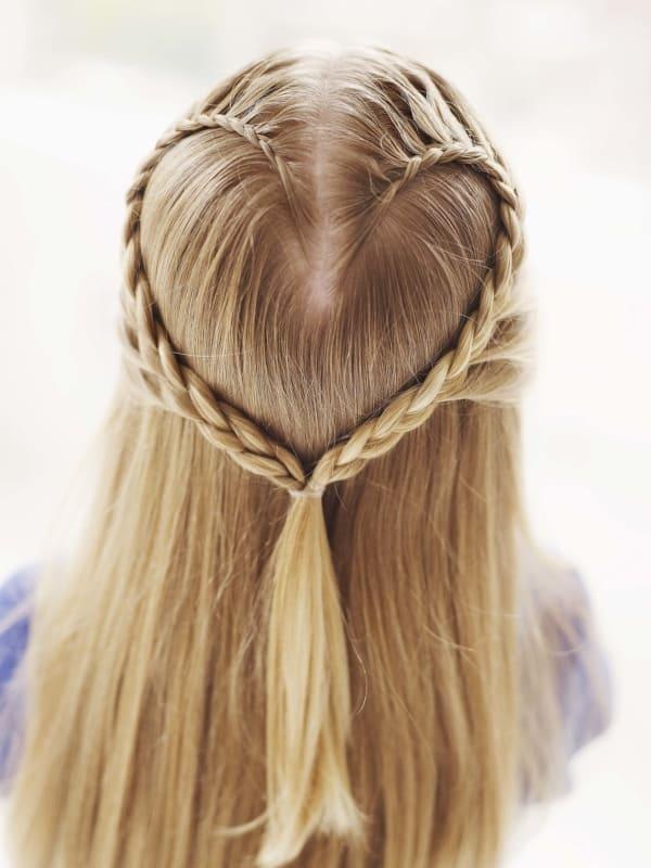 penteado infantil com tranca para cabelo liso