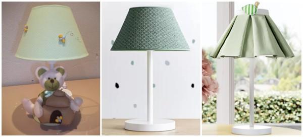 modelos de abajur verde para quarto de bebe