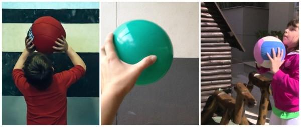 brincadeira criativa com bola