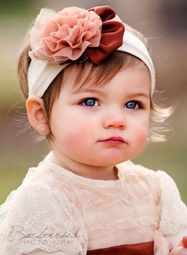 penteado com tiara para bebe
