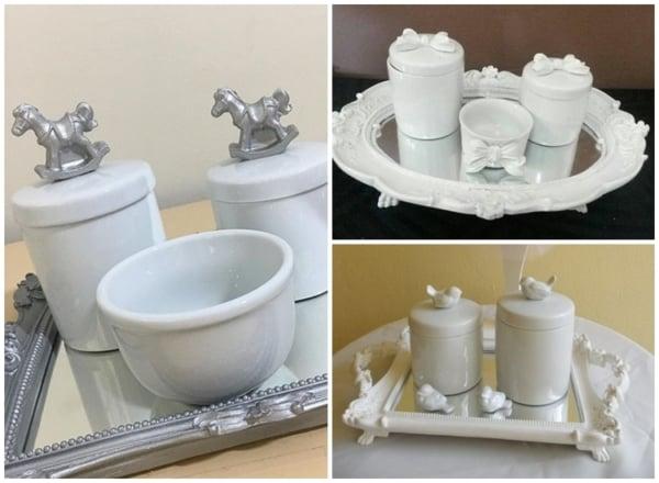 modelos de kit higiene de porcelana branca