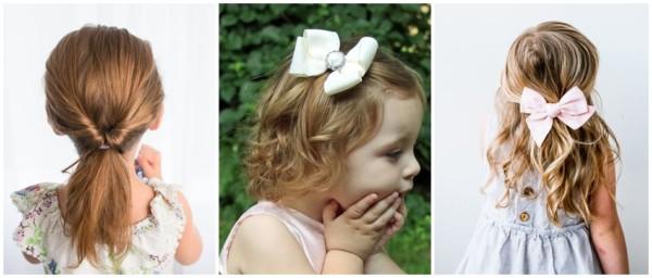 penteados infantil simples para casamento