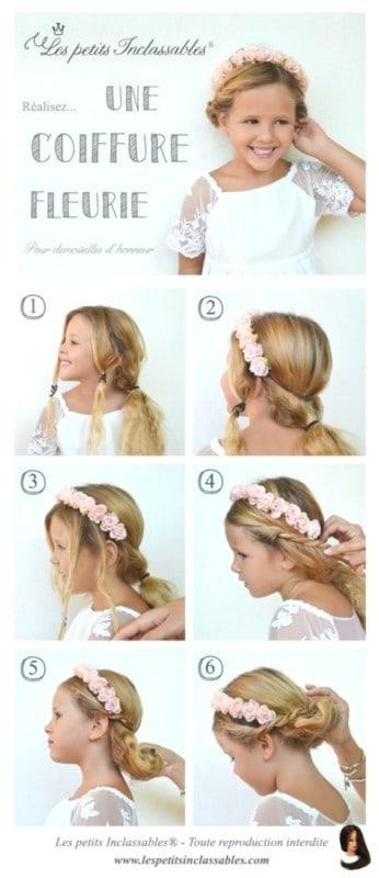 passo a passo de penteado infantil para casamento com tiara