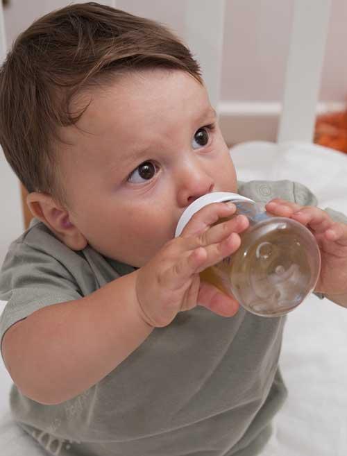 quantidade de cha para bebe