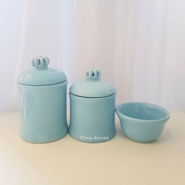 kit higiene de porcelana azul bebe