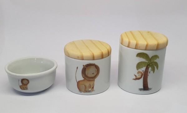 kit higiene com tema safari para quarto de bebe