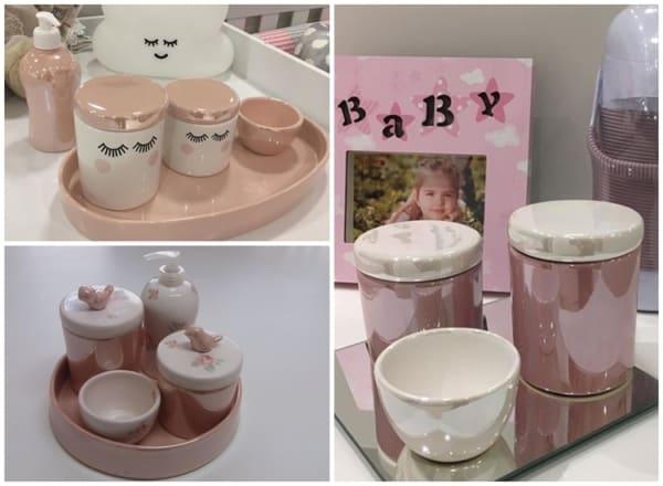 modelos de kit higiene de porcelana perolada