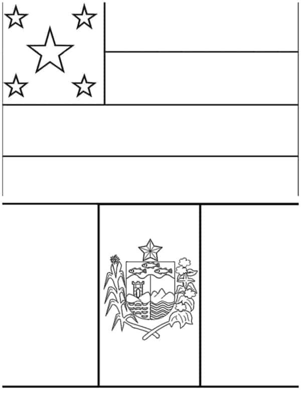 bandeiras de Sergipe e Alagoas para colorir