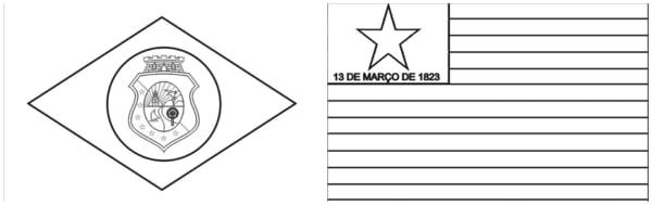 bandeira do Ceara e Piaui para colorir