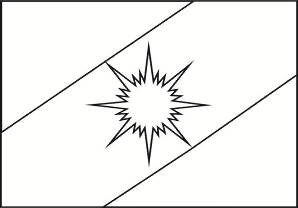 bandeira de Tocantins para colorir