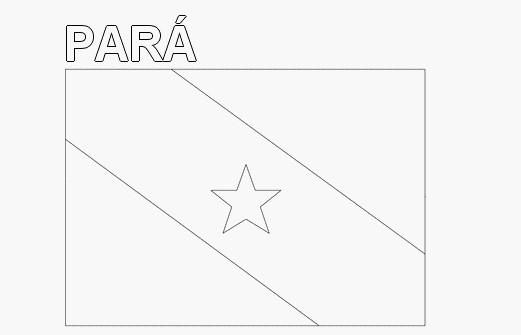 bandeira do Para para colorir