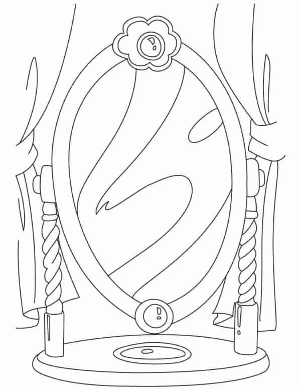 espelho da Branca de Neve para pintar