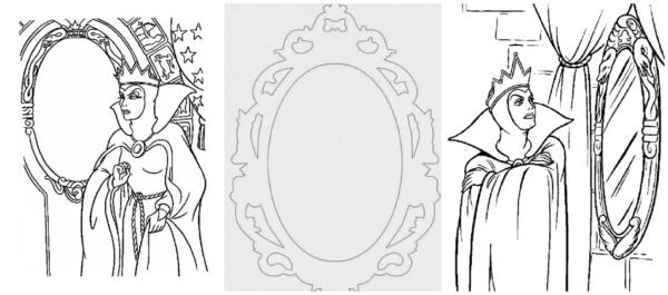 espelho da Branca de Neve para colorir