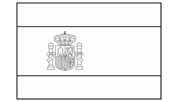 bandeira da Espanha para colorir