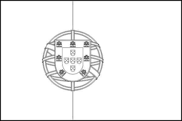 bandeira de Portugal para colorir