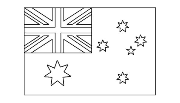 bandeira da Australia para pintar