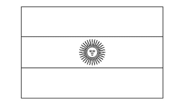 bandeira da Argentina para colorir