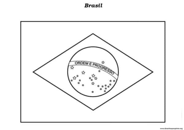 desenho da bandeira nacional para colorir