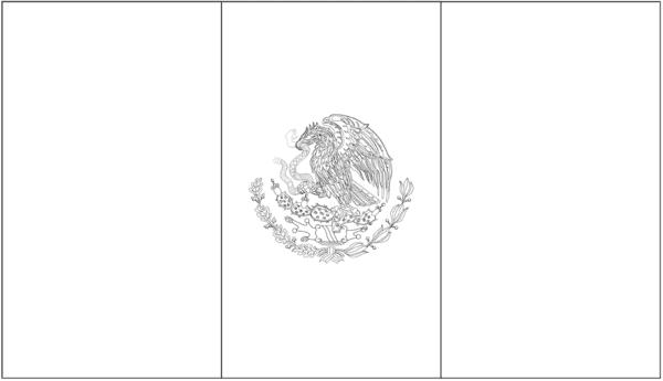bandeira do Mexico para colorir