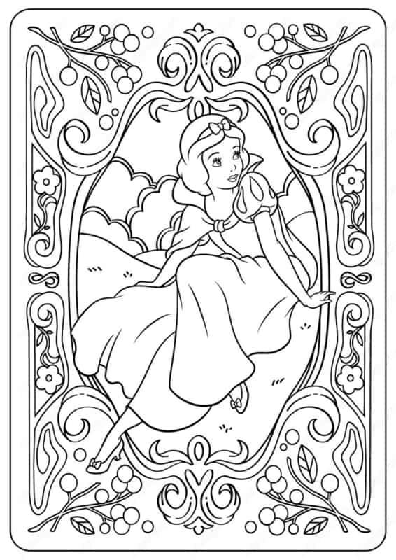 desenho gratis da Branca de Neve