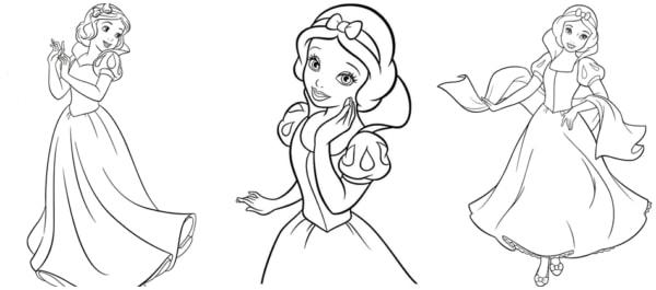 desenhos para colorir da Branca de Neve