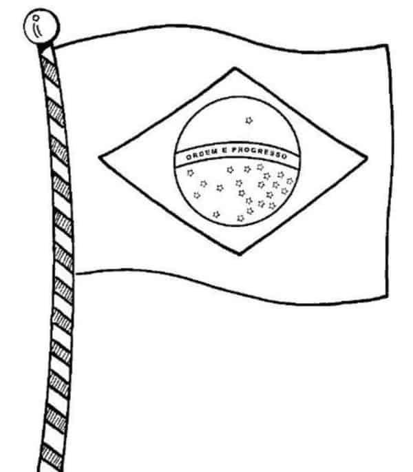 desenho da bandeira do Brasil para pintar