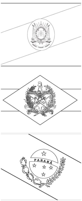 bandeiras dos Estados do Sul para colorir